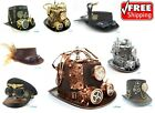 Steampunk Top Hat Prop Halloween Costume Cosplay Party W Goggles and Gauge
