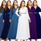 Plus Size Women Long Maxi Evening Dress Formal Prom High Waist Cocktail Party