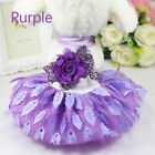 Small Puppy Pet Girl Dog Flower Leaf Princess Lace Skirt Tutu Dress Clothes