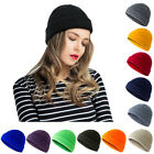 Men Women Knitted Hat Beanie Sailor Docker Fisherman Cuff Brimless Cap Winter