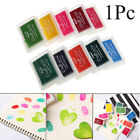 Toy Rubber Stamp Paint Ink Pad Oil Based Craft Fabric Fingerprint Inkpad