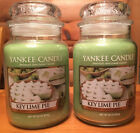 Lot of 2 Yankee Candle KEY LIME PIE Large Jar 22 oz Housewarmer