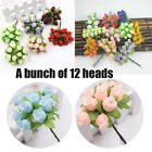 Home Decoration Mini Silk Bouquet Artificial Flower Handmade Simulated Rose