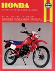 NEW HAYNES 566 Honda XL/XR: 80, 100, 125, 185, 200cc 78-87 Repair Manual