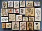 TEDDY BEAR THEME RUBBER STAMPS YOU PICK Vtg PSX HERO ARTS  MORE TEACHERS ETC