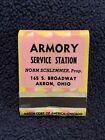 Armory Service Station AMOCO Gas Matchbook Akron Ohio Norm Schlemmer Match Corp.