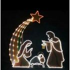 LIGHTED OUTDOOR NATIVITY SCENE SET