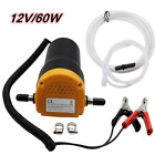 Electric 60W 12V Transfer Pump Extractor Oil Fluid Diesel Car Motorbike Kit UK