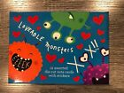 Papyrus Cards Loveable Monsters assorted Valentine Cards 12 Note Cards
