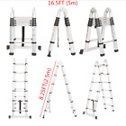 New Ladder Step Extension Telescoping Lightweight Portable Folding Telescopic Us