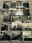 Lot of 17 1960s Amateur 11x 14 BW Photographs Old Railroad Tracks Snow Night
