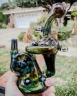 Augy Glass Alien Tech Recycler With 9 Opals Heady Rig Glass Art