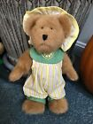 """1988-2003 Boyds Collection 9"""" Plush Bear W/Citrus Outfit Shay McLemon (Jointed)"""