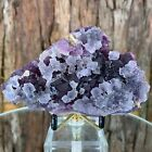 12cm 306g Octahedral Purple Fluorite Crystal Stone Rock from Sanming Mine China