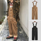 Mens Vintage Corduroy Overalls Dungarees Bib and Brace Overalls Straight Trouser