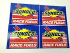 4 Authentic SUNOCO Race Fuels Racing Decals Stickers NASCAR 5-1/2