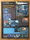 Resident Evil 3 Nemesis Single Page Preview PS1 1997 Vintage Print Ad Poster