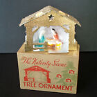 1940s Nativity Scene Christmas Ornament Light Cover Mint in Box
