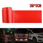 Truck Car Reflective Safety Warning Tape Self Adhesive 5cm3m Roll Film Sticker