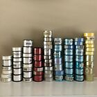 Huge lot 70 Ribbon for Crafts Card Making Hair Bows Scrapbooking New Old Stock