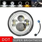 Chrome 7 Inch Led Headlight For Harley Davidson Electra Glide Ultra Limited