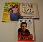 BOB GREENE GET WITH THE PROGRAM BIGGEST LOSER 3 BOOKS TOTAL BODY MAKEOVER EUC