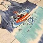 Dr Suess Swimwear Surfing 90s Vintage One Size Tie Dye Swim Suit Top Womens