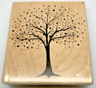 PENNY BLACK Fantasy Tree Rubber Stamp on Wood Mount Large Very Good Cond