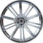 4 GWG Wheels 20 inch STAGGERED Chrome FLOW Rims fits JAGUAR XJ8 2004 2009
