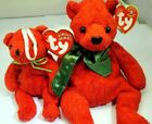 TY Beanie Babies & Jingle Collection 2001 Mistletoe new unused with tag set of 2