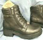 Harley Davidson Womens Size 7 M Motorcycle Double Zipper New Black Boots D83877