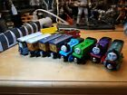 Thomas The Train Wooden lot of 11 Engines & Cars Duck,Porter,Charlie Annie Etc!