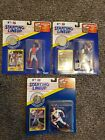 1991 Starting Lineup Lot Sandy Alomar, Benito Santiago and Lenny Dykstra