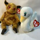 2 in Lot Ty Beanie Babies Retired Plush