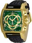 Invicta S1 Rally 27929 Men's Green/ Gold-Tone Genuine Leather Chronograph Watch