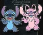 Stitch and Angel 2 Set Disney Pin