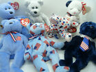Ty Beanie Babies Baby Bear UNION RIGHTY AMERICA POPS AMERICAN BLESSING LOT