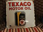 VINTAGE 1950s TEXACO OIL  GAS PUMP   PORCELAIN   SIGN