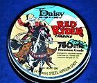 DAISY RED RYDER BB GUN AMMO TIN 1940S IMAGE RED RYDER ON HORSE BBS NOT INC