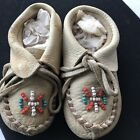 Antique Native American Indian Baby MoccassainsLeather  Bead Work