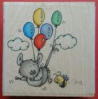 Whipper Snapper Fly By Me Rubber Stamp LY824 Mouse Bee Balloons