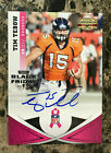Tim Tebow AUTO 2011 Panini Black Friday Breast Cancer Awareness #40 Broncos 6 25