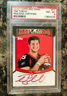 Tim Tebow AUTO RC 2010 Topps Rookie Red Zone Autographs #TT 40 100 Broncos PSA 8