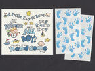 Frances Meyer Stickers A Little Boy to Love Little Prince Blue Baby Prints