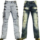 ACCESS WASH JEANS LEVIS 501 STYLE BIKER PANTS SLIM STRAIGHT FIT AP16245