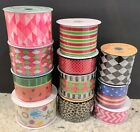 10 Yards Roll of Summer Designs Ribbon 15 or 25 or 3 CHOICE Wire Edge Wired