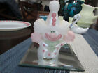 BEAUTIFUL PINK FENTON CLOWN HAND PAINTED AND SIGNED
