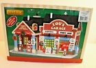 Michael's Lemax Lou's Garage Lighted Christmas Village Auto Shop Building NEW