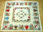 German Town Heraldry tablecloth Souvenir of Germany Tablecloth 40x45new
