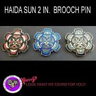 Haida First Nation Jewelry Haida Sun Black Red Blue Black Blue Blue Pin
